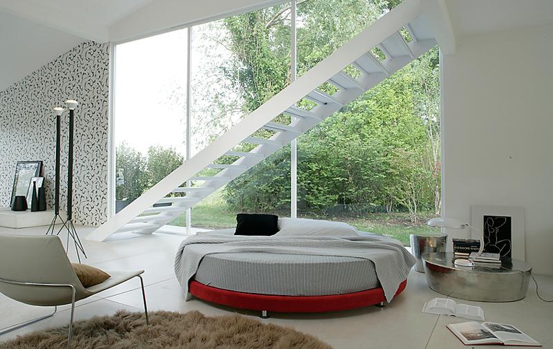 Letto tondo archives letto e materasso - Camera da letto con letto rotondo ...