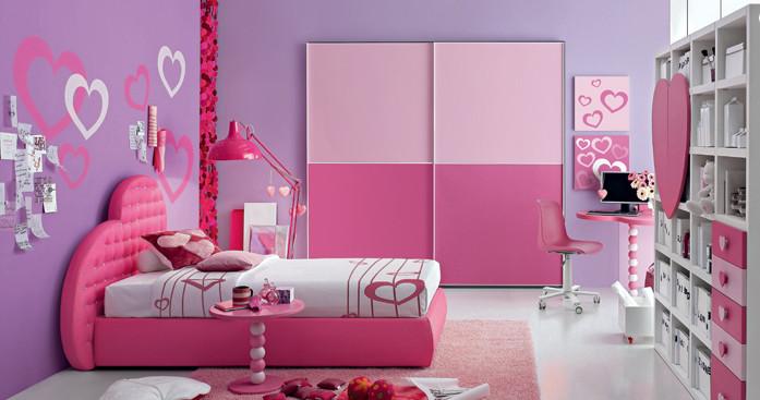 armadio scorrevole rosa per cameretta