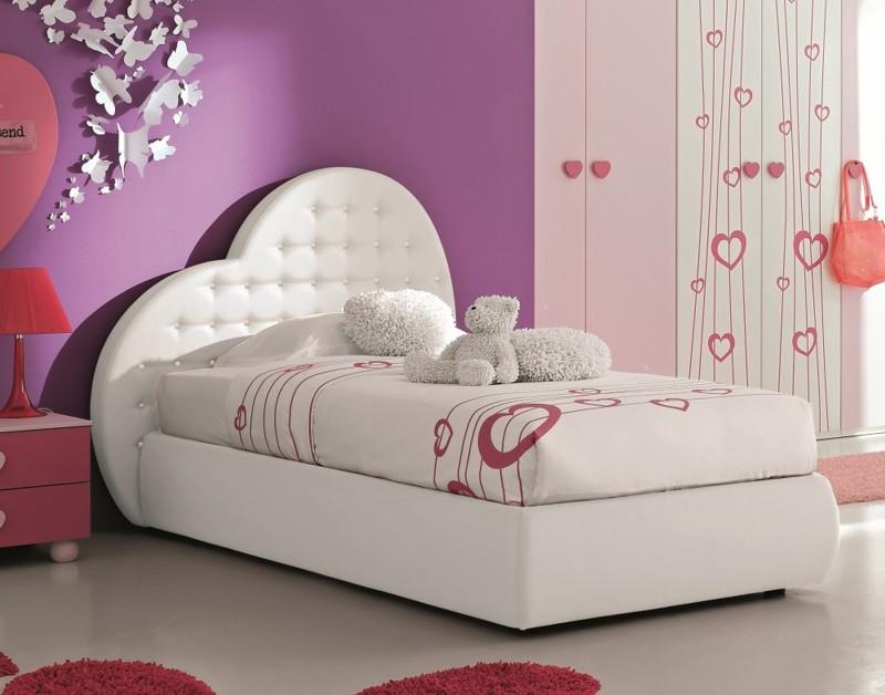 Letto a cuore per bambina letto e materasso - Camere da letto bambina ...