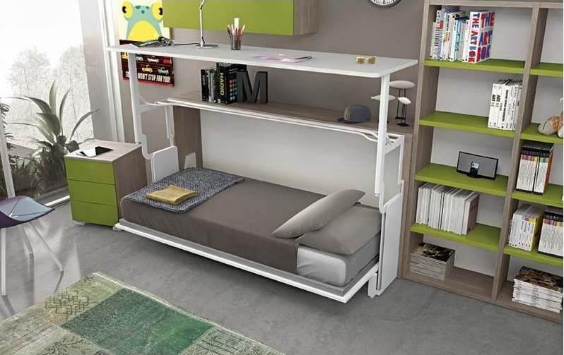 letto e scrivania a scomparsa