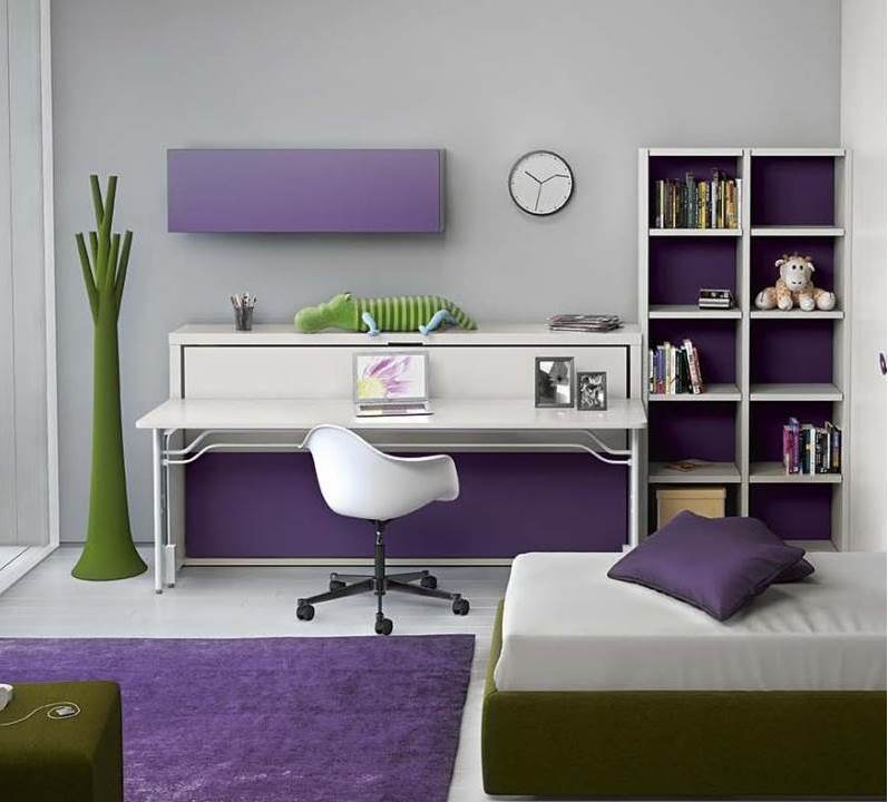scrivania che diventa letto