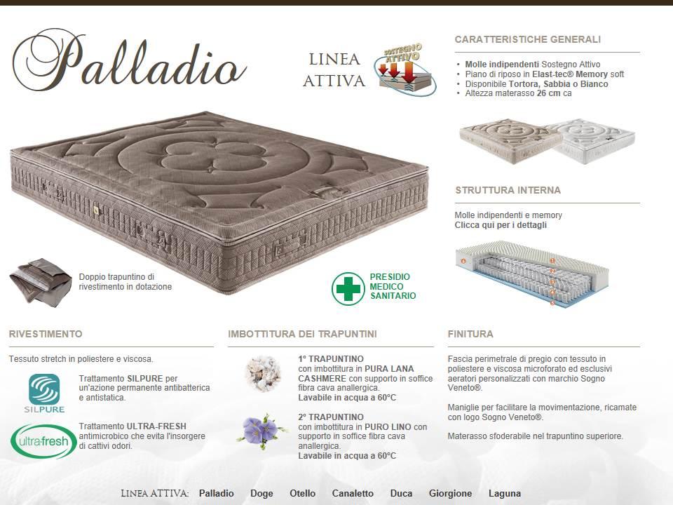 materasso linea attivo sogno veneto modello Palladio