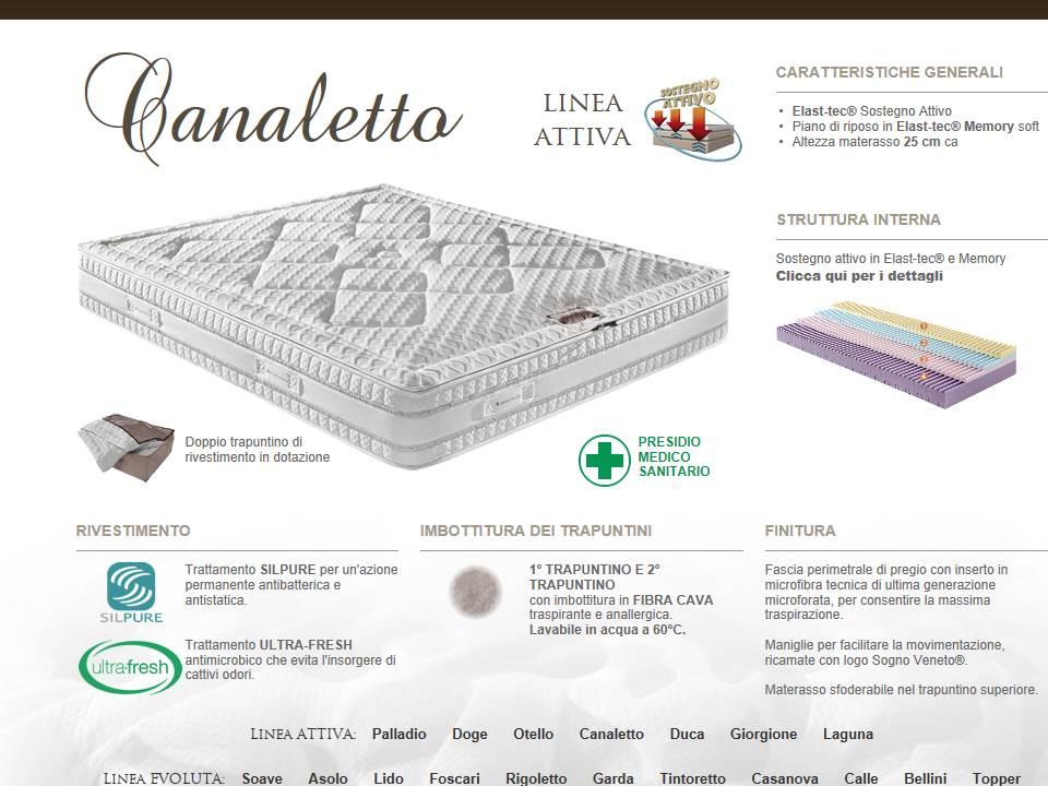 materasso in schiuma ecologica attiva modello Canaletto