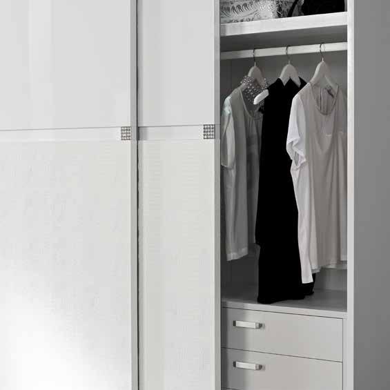 armadio scorrevole con swarovski