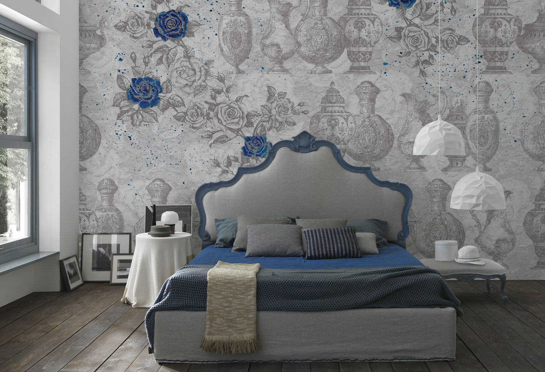 Letto imbottito tessile pelle archives letto e materasso - Decorare pareti camera ...