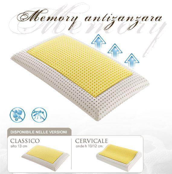 cuscino memory antizanzara  e anti cervicale