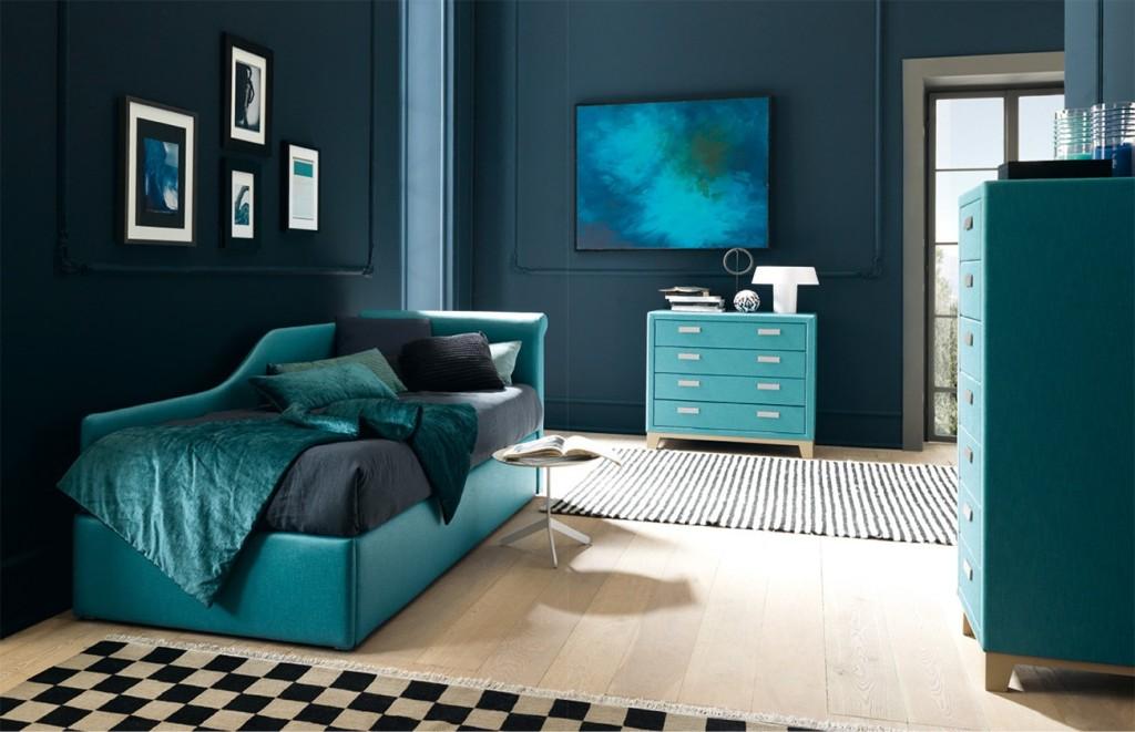 Divani a letto archives letto e materasso - Camera da letto blu notte ...
