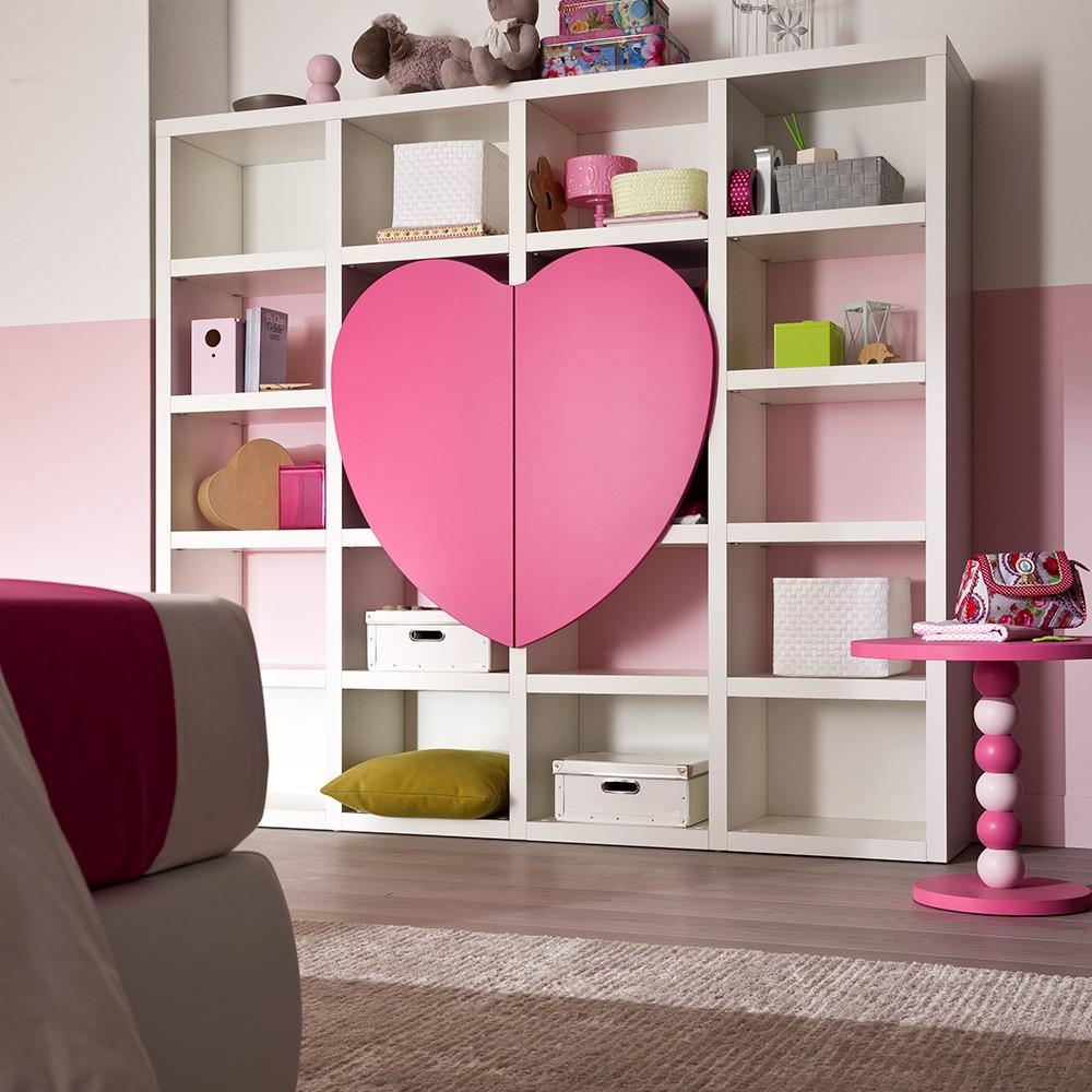 libreria cuore per cameretta