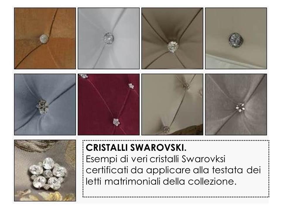 cristalli swarovski sulla testata del letto matrimoniale