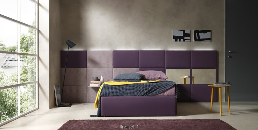 pannello a muro per camera da letto dual collection by Bolzan letti