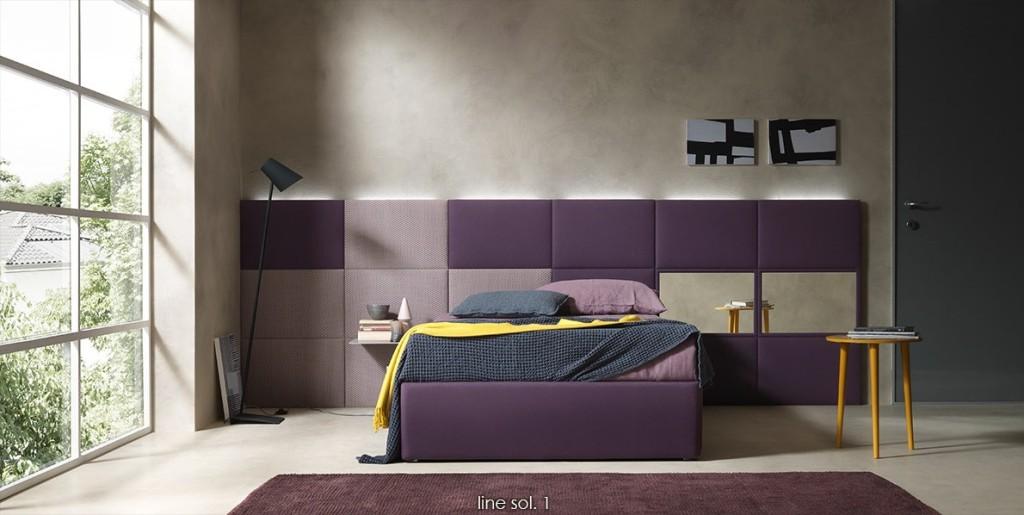 pannello a muro per camera da letto dual collection by Bolzan letti