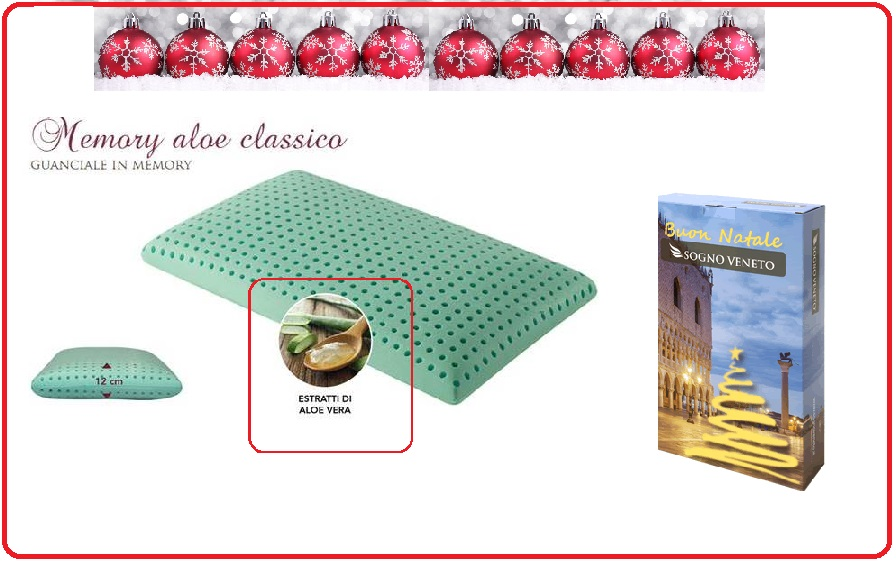 cuscino in memory con aloe vera automodellante.