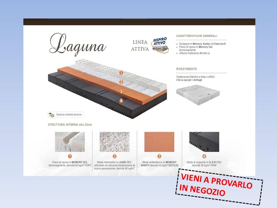 materasso Laguna in memory e labir-tec  riposante ed ergonomico