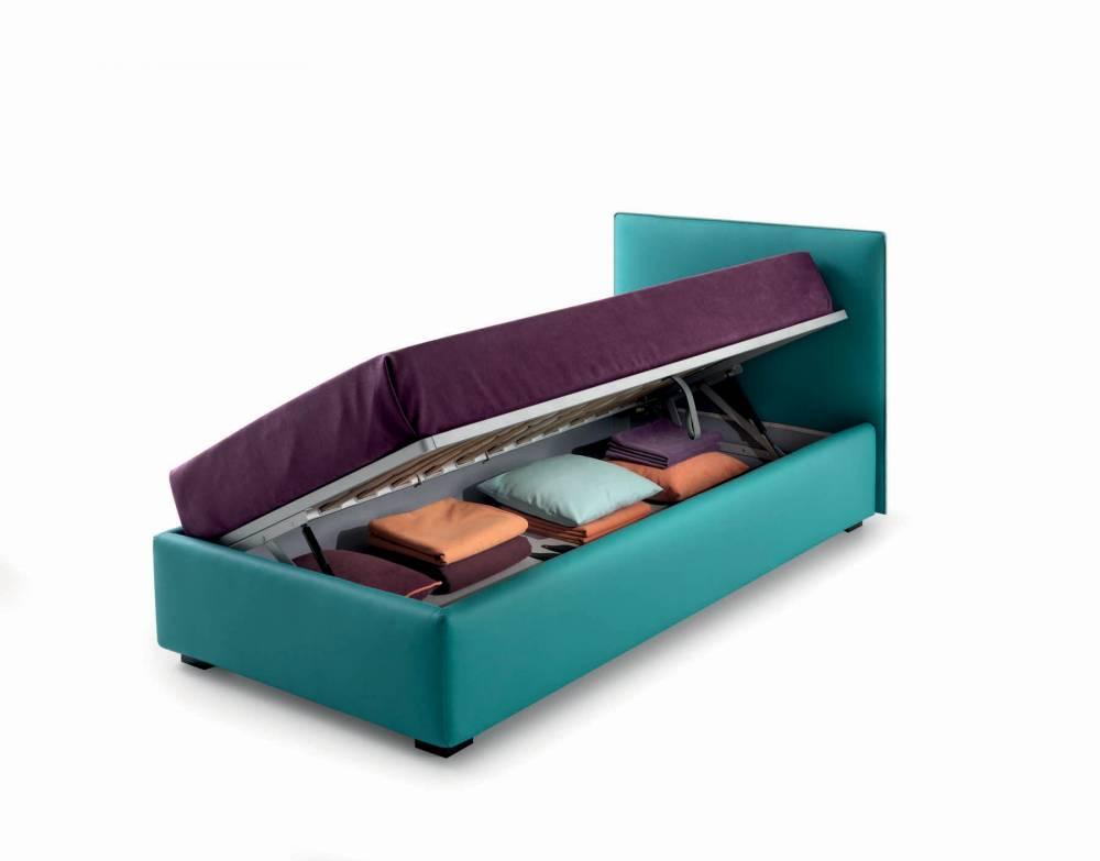 letto con contenitore alzata laterale
