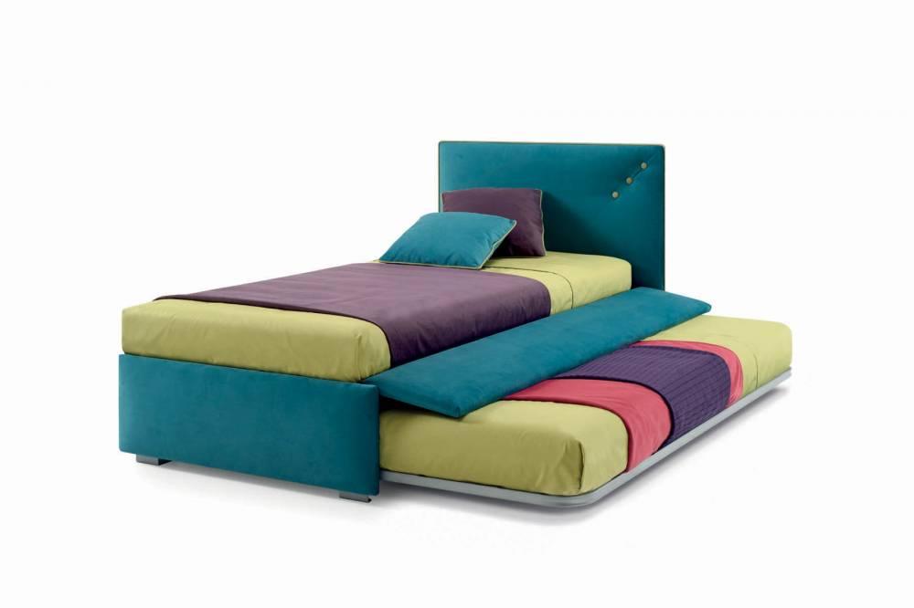 letto imbottito con secondo letto